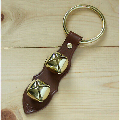Arctic Sleigh Bell Leather Strap Hanging Door Chimes_BR/GD