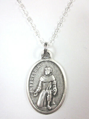St peregrine medal italy pendant necklace 20 chain gift box st peregrine medal italy pendant necklace 20 chain gift box prayer card mozeypictures Image collections