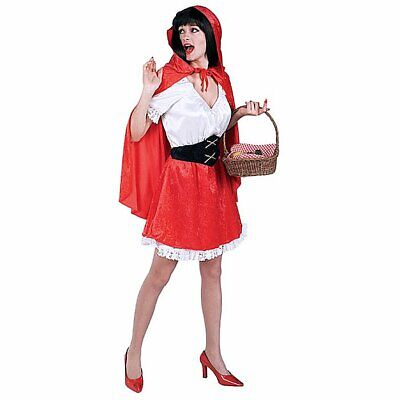 Little Red Riding Hood Women Adult Cosplay Fancy Dress Up Party Costume One Size