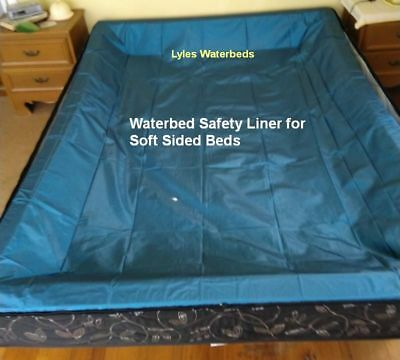 Queen Size Waterbed Safety Liner For a Soft Sided water bed