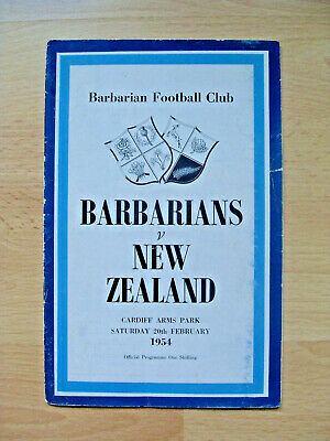 Barbarians v New Zealand 1954 Signed Rugby Programme