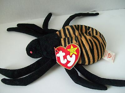 New Face ~Good Tag~E6 Ty Beanie Babies~4th Generation~Teddy Brown Bear With