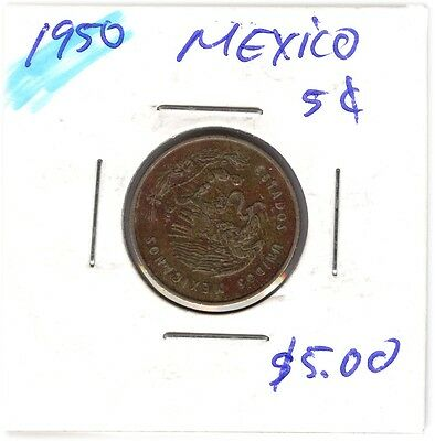 LOT OF  MEXICANS COINS FROM 1950-1964