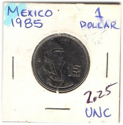 LOT OF  MEXICANS COINS FROM 1985-89