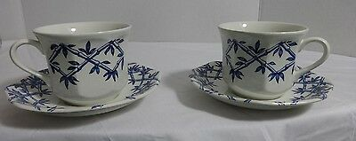 LOT 2 J & G Meakin TEA CUPS AND SAUCERS ROYAL STAFFORDSHIRE TRELLIS IRONSTONE
