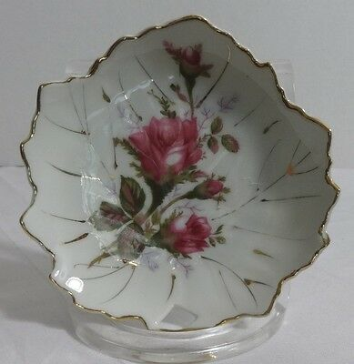 MADE IN JAPAN ROSE PINK CANDY DISH VINTAGE 5""