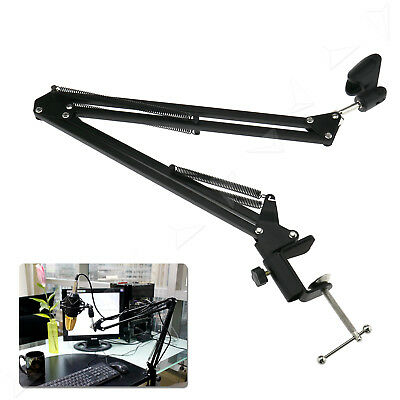 Mic Microphone Suspension Boom Scissor Arm Stand Holder for Studio Broadcast