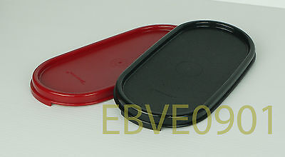 Tupperware Modular Mates Oval Seals 1pc (Cranberry/ Black) - Free Shipping
