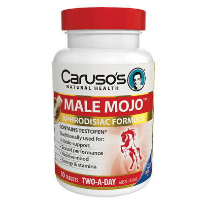 Caruso's Male Mojo 30 Tablets Aphrodisiac Formula For Sexual Performance Stamina