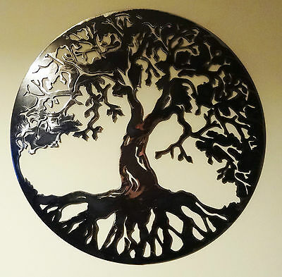 """Solid Steel Metal hand finished """"Tree of life"""" wall art - Many sizes up to 120cm"""
