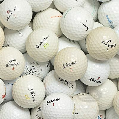 100 Mix marche varie Palline da golf usate Cat. 1/2 Stelle (A) used golf balls