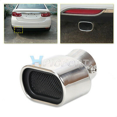 58mm Universal CURVED Exhaust Tailpipe Tail exhaust Pipe Rear Muffler End Trim