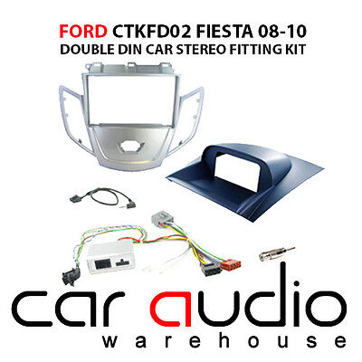 Ford Fiesta 2008-2010 Car Stereo D/Din Fascia & Steering Wheel Interface CTKFD02