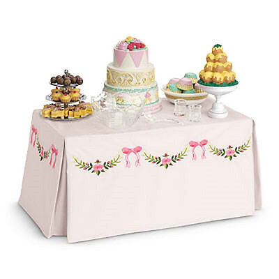 American Girl MARIE GRACE BANQUET TABLE & TREATS Doll Furniture NEW Cecile