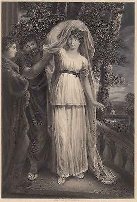 1835 Stampa Antica Originale-Troilus And Cressida By John Opie R.a - 19