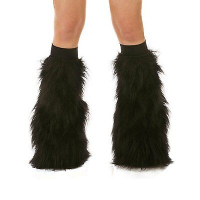 TrYptiX Black Rave Furry Fluffy Gogo Fluffies With Black Kneebands EDC Ultra