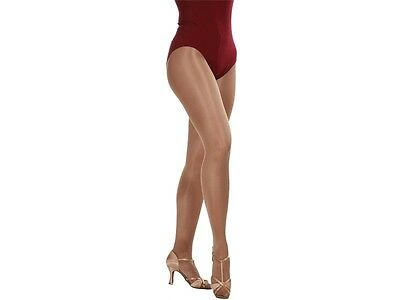 SALE DTTROL Dance Jazz Tap Shimmer Tights Toast and Light Toast