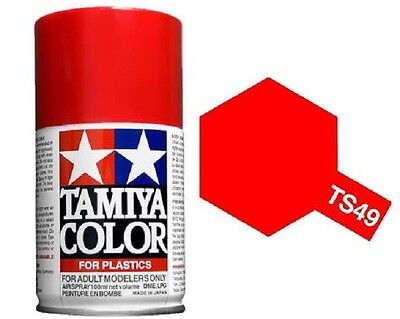 TAMIYA COLORI SPRAY 100 ml PER PLASTICA TS49 BRIGHT RED FOR PLASTICA BOMBOLETTA