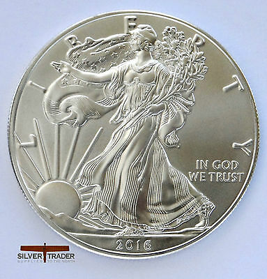 2016 American Silver Eagle unc: 1 oz Troy ounce Fine Silver bullion Coin