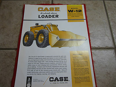 Case tractor  W-12 four wheel drive loader tractor Sales Brochure sign