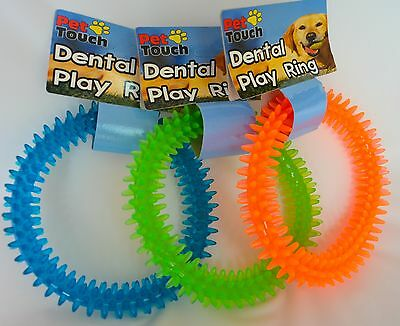 Dog/Puppy Dental Play Ring Toy - Chew/Teeth/Gift/Teething/Gums