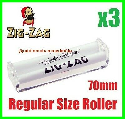 3 X Zig Zag Cigarette Regular Size Automatic Rolling Machine Roller