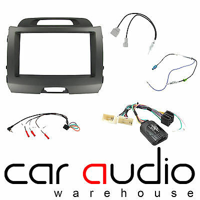 Kia Sportage 2010 On Car Stereo D/Din Fascia Steering & Wheel Interface CTKKI02