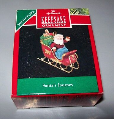 Hallmark Keepsake Miniature Ornament 1990 Santa's Journey Used In Box