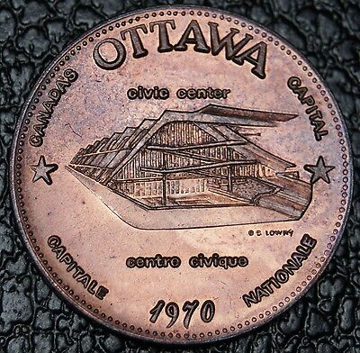 1970 OTTAWA SOUVENIR DOLLAR - Civic Center Home of the Grey Cup - Huge Coin -NCC