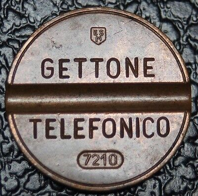 ITALY GETTONE TELEFONICO - local call - IPM Nº 7210 - RARE TELEPHONE TOKEN - NCC