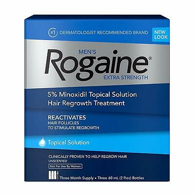 ROGAINE MEN'S TOPICAL SOLUTION 3 MONTHS 5% minoxidil extra strength liquid 2020