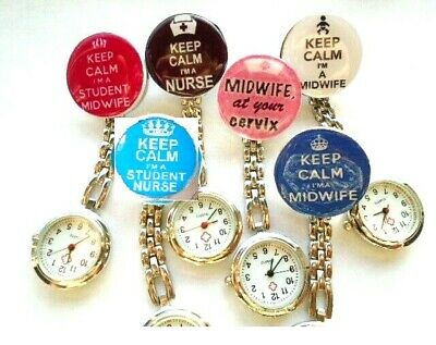 Keep Calm I'm a Midwife Student Nurse Cervix Medical Nurse Watch Clip on Brooch