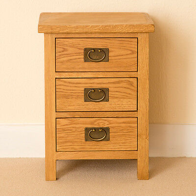 Lanner Oak Bedside Table / Rustic Oak Bedside Cabinet / Solid Wood Waxed Finish
