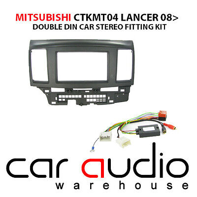 Mitsubishi Lancer 2007-2010 Stereo D/Din Fascia Steering Wheel Interface CTKMT04
