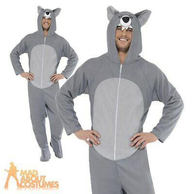 Adult Wolf Onesie Costume Halloween Unisex Fancy Dress Outfit New