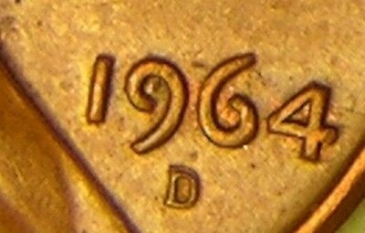 1964 D/D Lincoln Memorial Penny, Cent,  Rpm 009 , Error Coin , Aj 818
