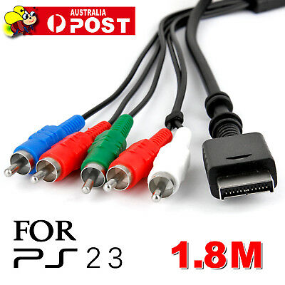 1.8M HD AV VIDEO AUDIO COMPONENT CABLE for SONY PS2 PS3 Playstation 2 3