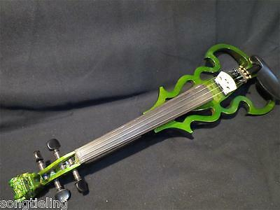 SONG Brand streamline carved dragon scroll 4/4 electric violin,solid wood #8942