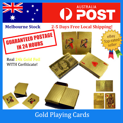 24k Gold Plated Playing Cards Full sets 54 cards Poker