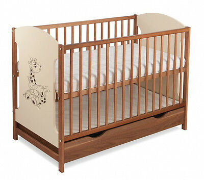 Baby cot with drawer MIKI 4 colors/baby cots/cots for sale/selection of mattress