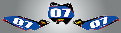 Husqvarna CR 50 2011 - 2015 number plates BARBED style stickers decals