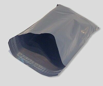 """Joblot: . 300 Large MAILING BAGS.. 14"""" x 21"""" inch ~ 36cm x 53cm.. grey packaging"""