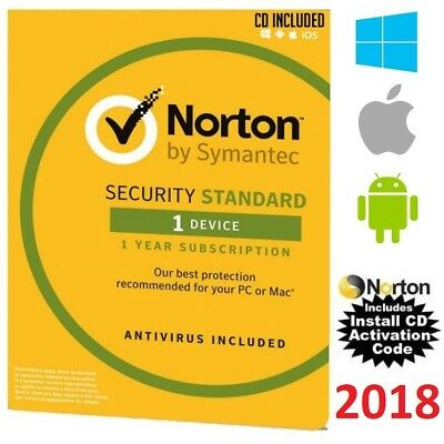 Norton SECURITY STANDARD 2018 Multi Device AntiVirus Windows Mac Android iPhone