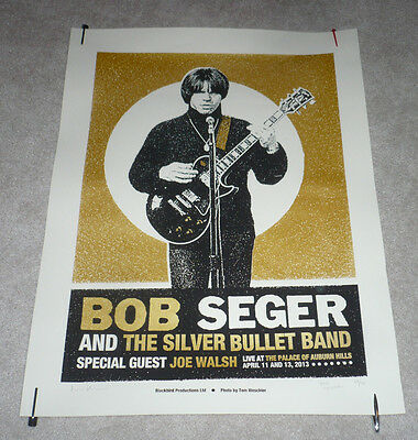 Bob Seger Detroit Gold Concert Poster 4/11/13 The Palace Lithograph /70 Limited