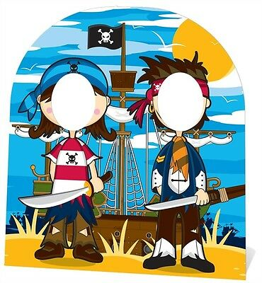 Pirate Stand In Cardboard Cutout Stand Up Child Sized. Great fun for Parties
