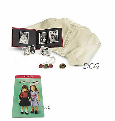 American Girl EMILY ACCESSORIES + TRADING CARDS W/OUT RATION BOOK NEW