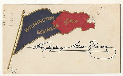 WILMINGTON BUSINESS SCHOOL Pennant, DE Vintage 1907 Delaware Postcard