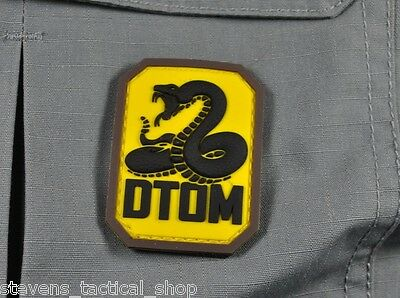 Yellow DTOM Don't Tread On Me PVC Morale Patch