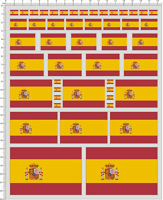 Self Adhesive Sticker decal Spain flag for different scales model kits 20573