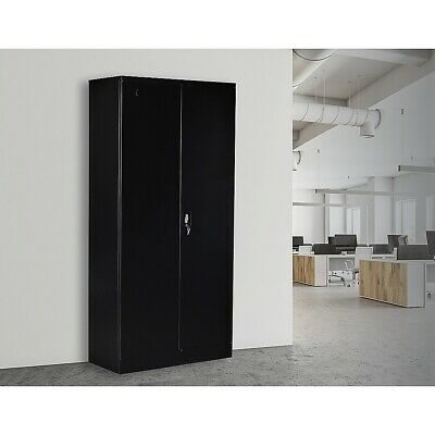 2-Door Shelf Office Filing Storage Locker Cabinet Safe